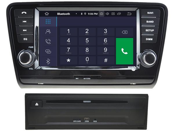 "Navigație Skoda Octavia 2013, Android 9, QUAD CORE / 2GB RAM cu DVD, 8"" Inch 3"