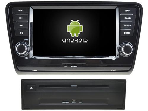 "Navigație Skoda Octavia 2013, Android 9, QUAD CORE / 2GB RAM cu DVD, 8"" Inch 0"