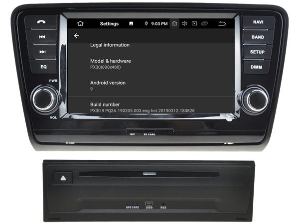 "Navigație Skoda Octavia 2013, Android 9, QUAD CORE / 2GB RAM cu DVD, 8"" Inch 4"