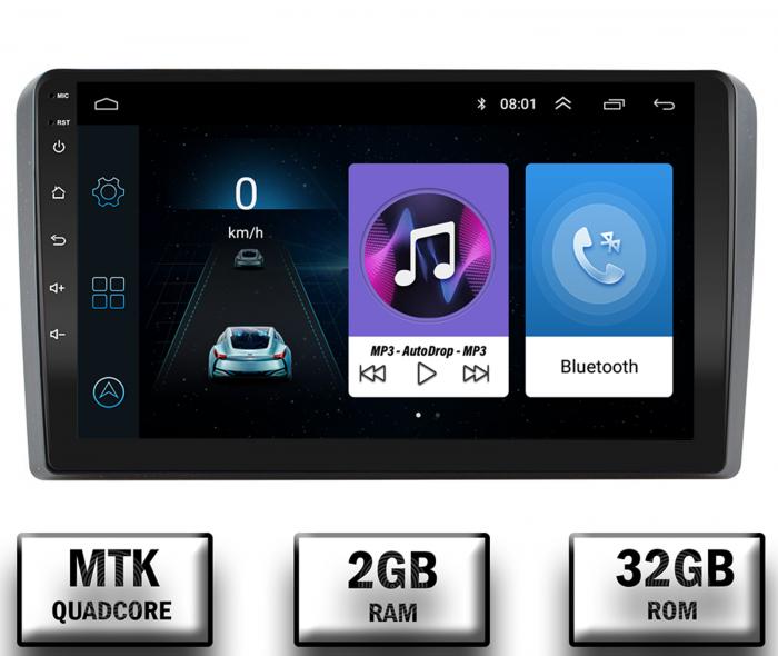 Navigatie Dedicata Audi A3 9 Inch Android | 2+32GB 0