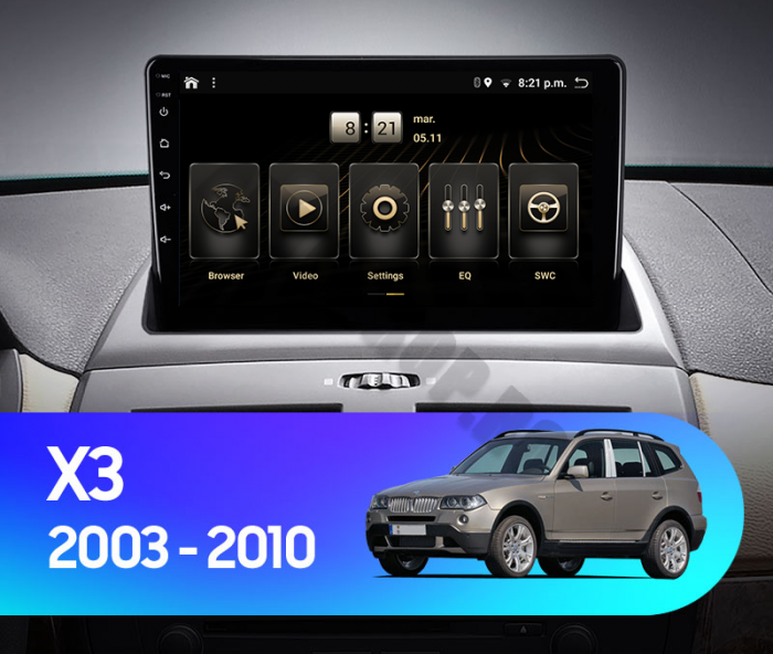 Navigatie Android BMW X3 E83 PX6 | AutoDrop.ro [14]
