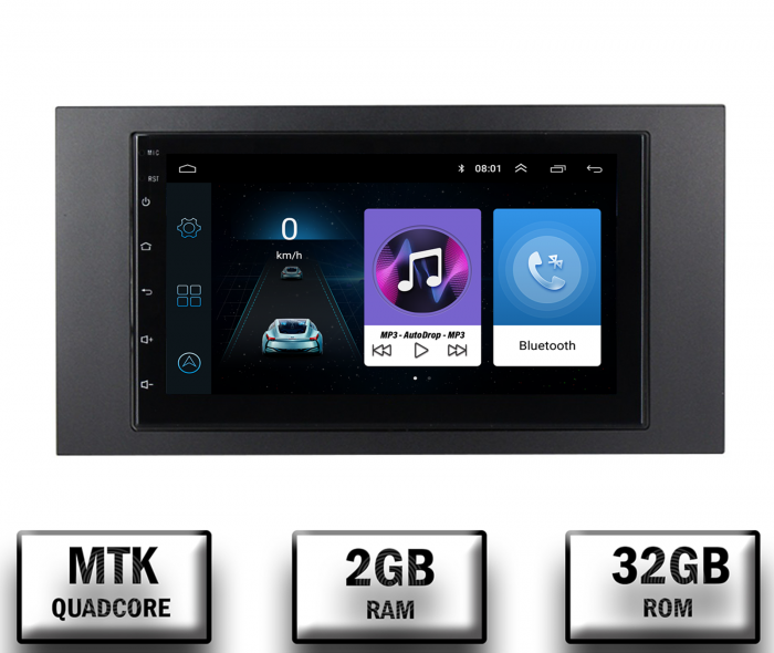 Navigatie Android Ford 2DIN 2+32GB | AutoDrop.ro [0]
