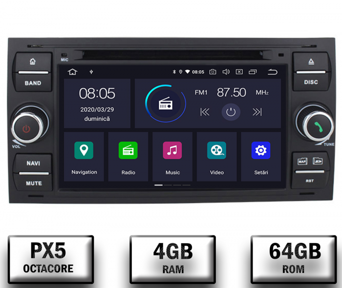 Navigatie Dedicata Ford, Android 10, Octacore - AutoDrop.ro [0]