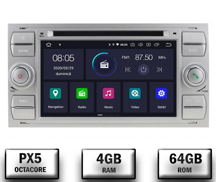 Navigatie Ford, Android, 4GB+64GB | AD-BGWFORDO7P5-S 0