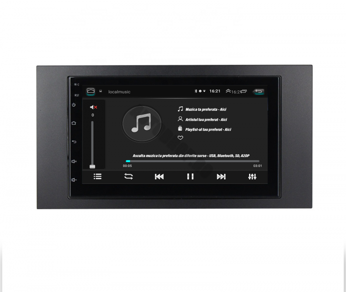 Navigatie Android Ford 2DIN 1+16GB   AutoDrop.ro [5]