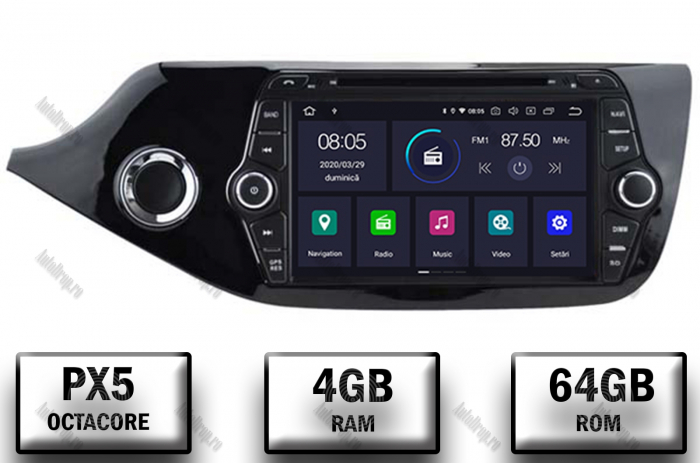 Navigatie Dedicata Kia CEED 2012-2013 4+64GB | AutoDrop.ro 0
