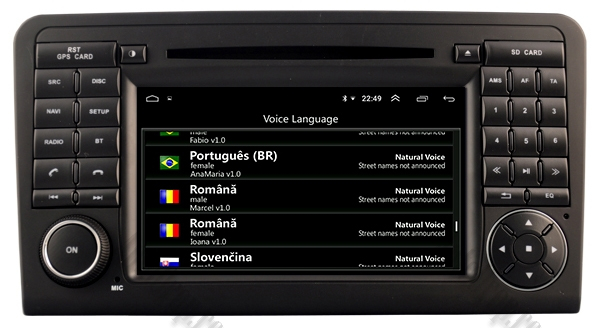 Navigatie Auto Mercedes Benz ML W164 - GL X164 | 4+64GB 7