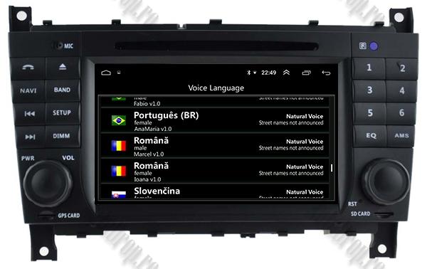 Navigatie Auto Mercedes C-Class/CLC W203 Octacore 8