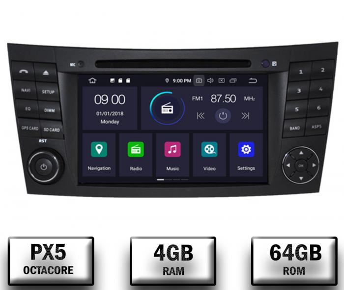 Navigatie Mercedes Benz E-Class/CLS Octacore 4GB+64 0