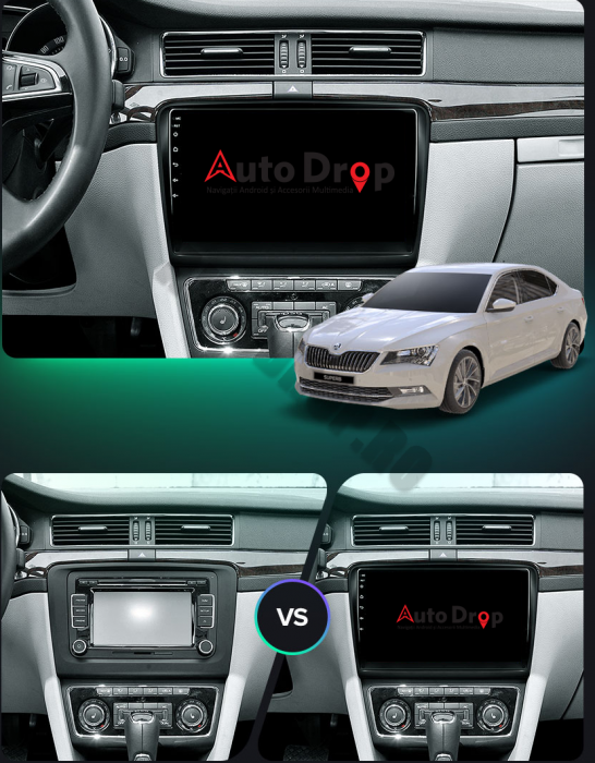 Navigatie Skoda Superb 2 Android 2+32GB | AutoDrop.ro 22
