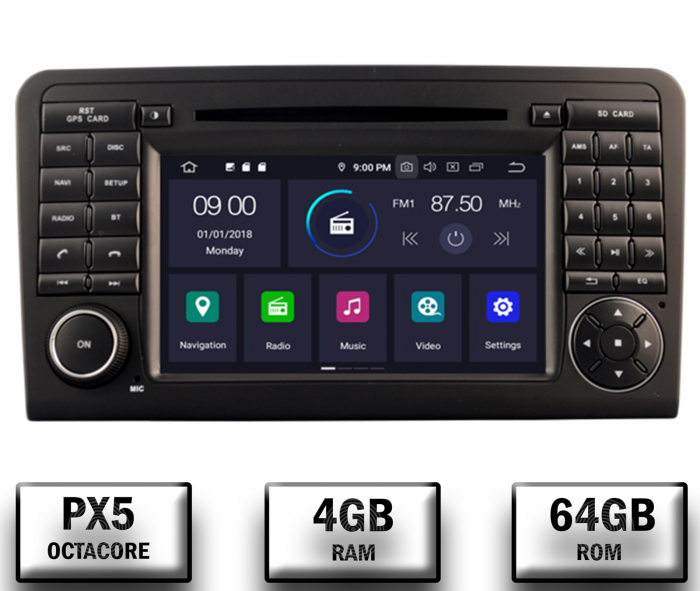 Navigatie Auto Mercedes Benz ML W164 - GL X164 | 4+64GB 0