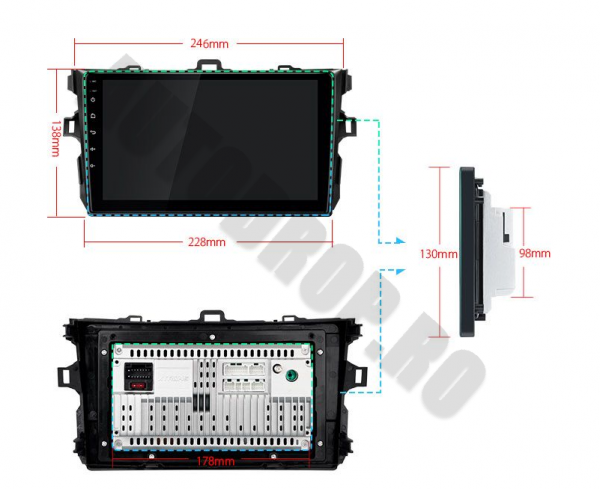 Navigatie Android Toyota Corolla 1+16GB | AutoDrop.ro 19