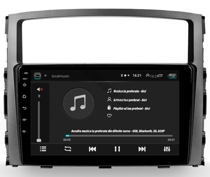 Navigatie Android Pajero 2006-2014   AutoDrop.ro [5]