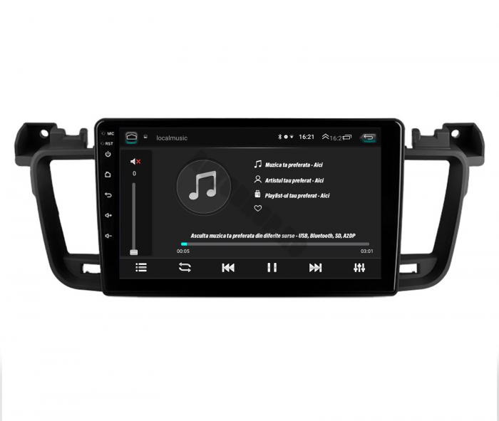 Navigatie Android Peugeot 508 2010-2018   AutoDrop.ro [4]