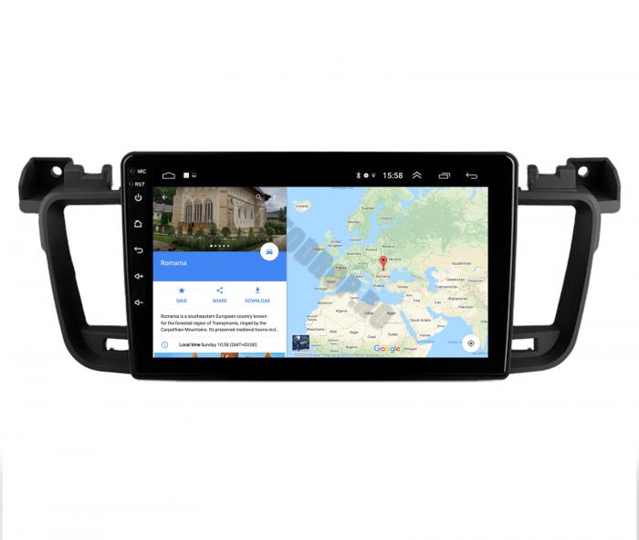 Navigatie Android Peugeot 508 2010-2018   AutoDrop.ro [9]