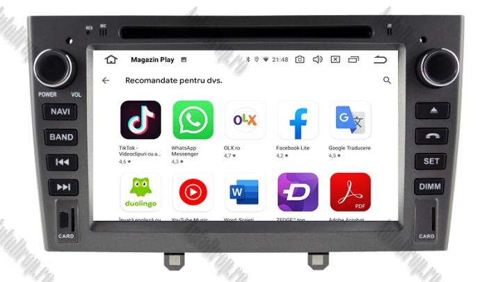 Navigatie Dedicata Peugeot 308 - 408 - Octacore 4+64GB 8