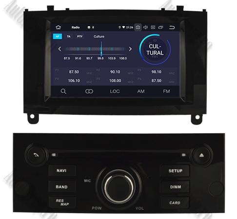 Navigatie Dedicata Android Peugeot 407 4+64GB Negru 3