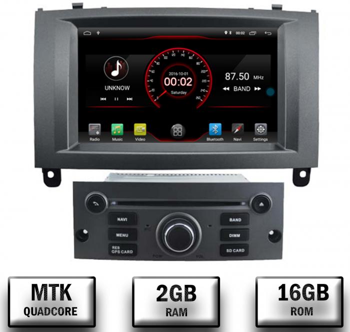 Navigatie Dedicata Peugeot 407 cu Android - AutoDrop.ro [0]