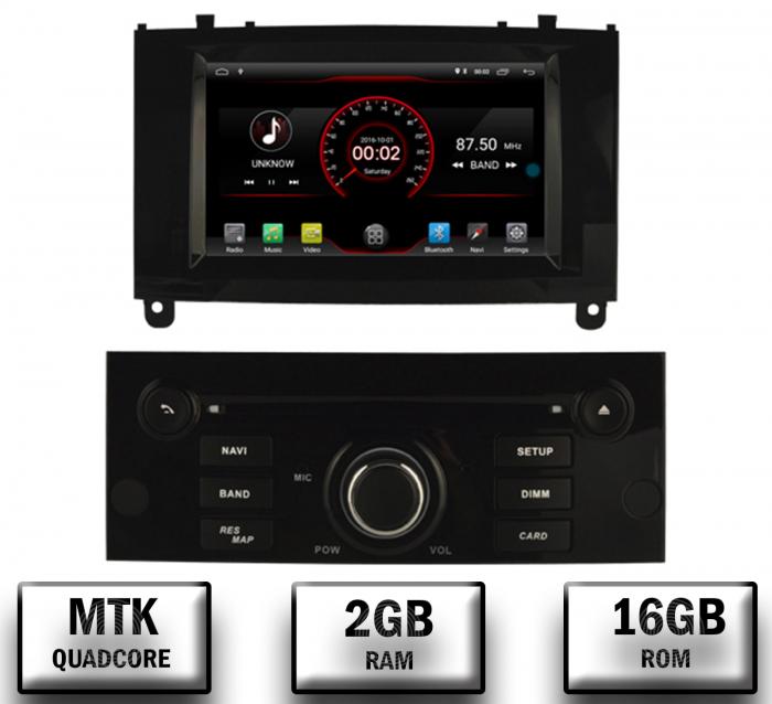 Navigatie Dedicata Peugeot 407 cu Android | Negru Lucios 0
