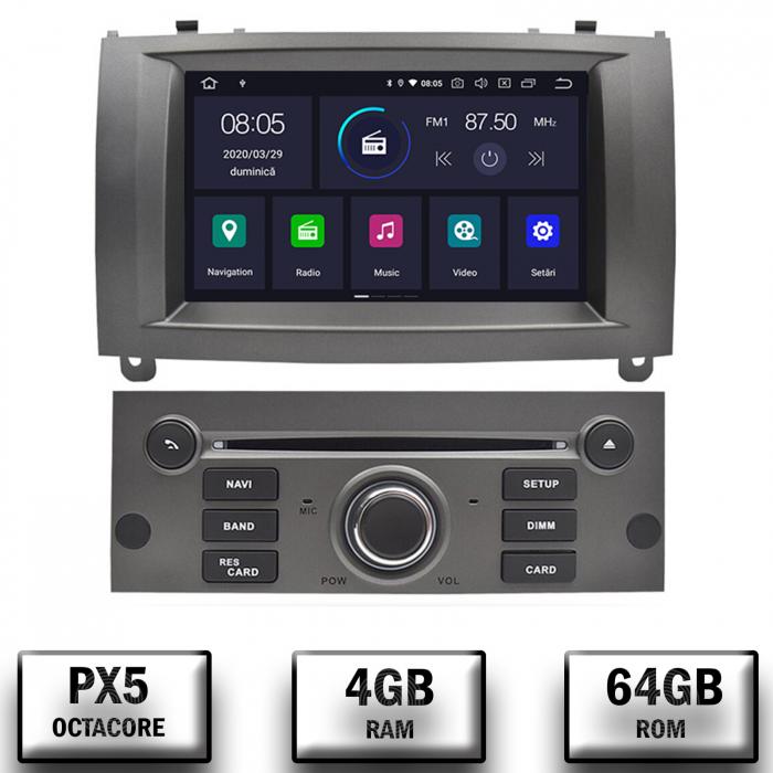 Navigatie Dedicata Peugeot 407 Gri 4+64GB | AutoDrop.ro 0