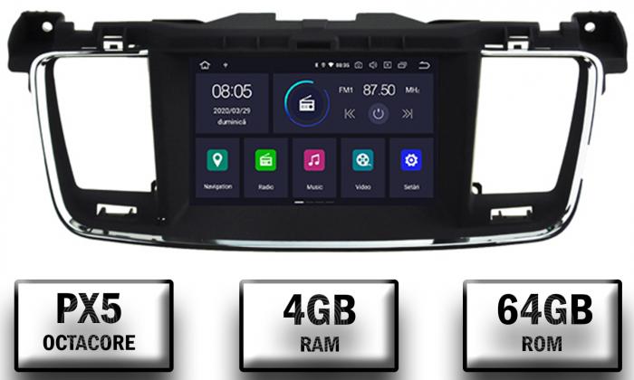 Navigatie Auto Peugeot 508 cu Android | 4GB + 64GB 0