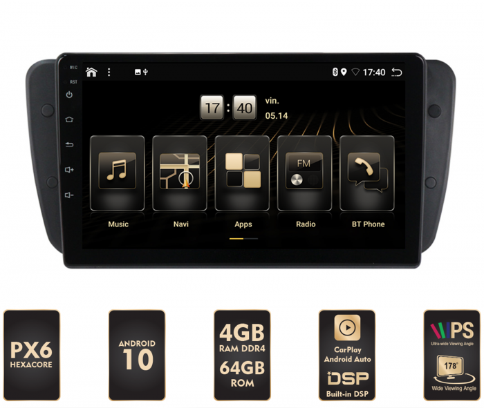 Navigatie Android 10 Seat Ibiza PX6   AutoDrop.ro [0]