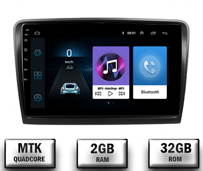 Navigatie Skoda Superb 2 Android 2+32GB | AutoDrop.ro 0