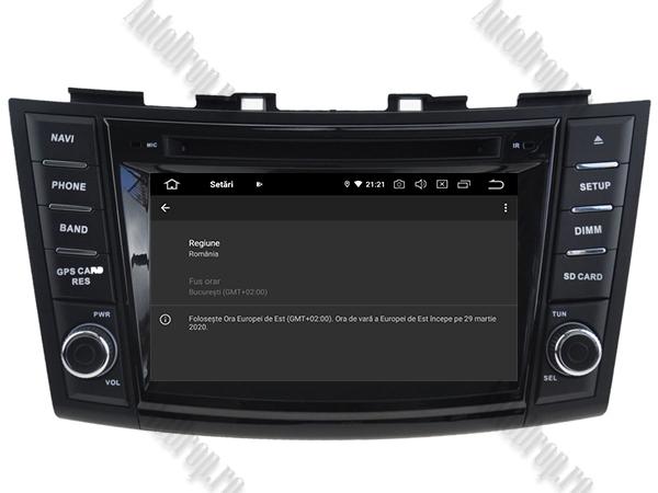 Navigatie Dedicata Suzuki Swift 2011+ | 4+64GB 15