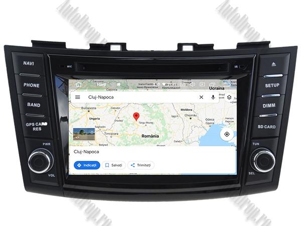 Navigatie Dedicata Suzuki Swift 2011+ | 4+64GB 13