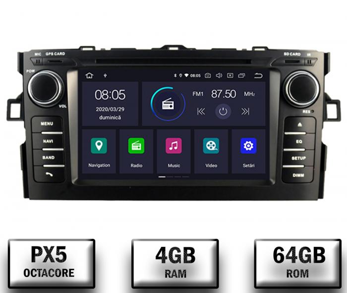Navigatie Dedicata Toyota Auris 2007-2011 4+64GB 0
