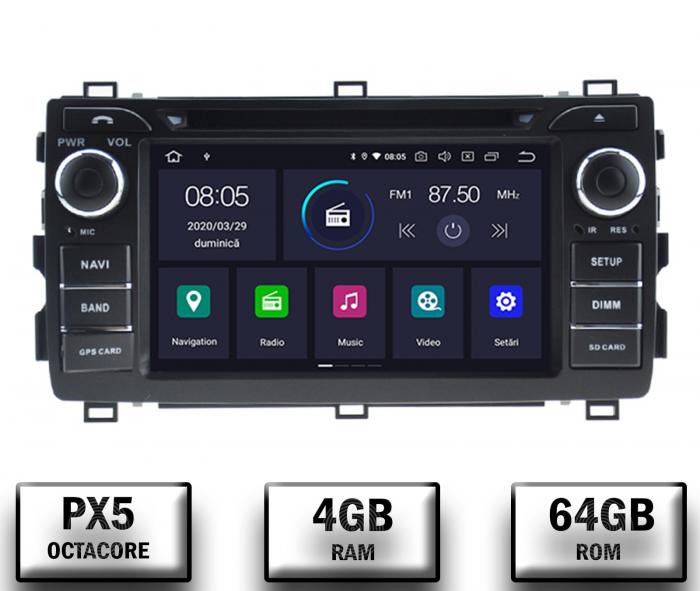 Navigatie Dedicata Toyota Auris 2013+ 4+64GB 0