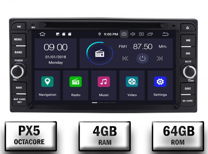 Navigatie Dedicata Toyota Corrola/Hilux/Terios PX5 4+64GB [0]
