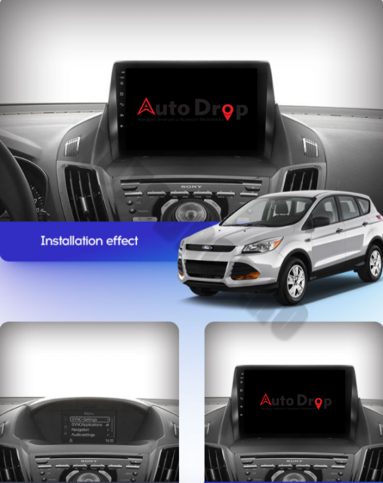 Navigatie Android Ford Kuga 2013-2018 | AutoDrop.ro 20