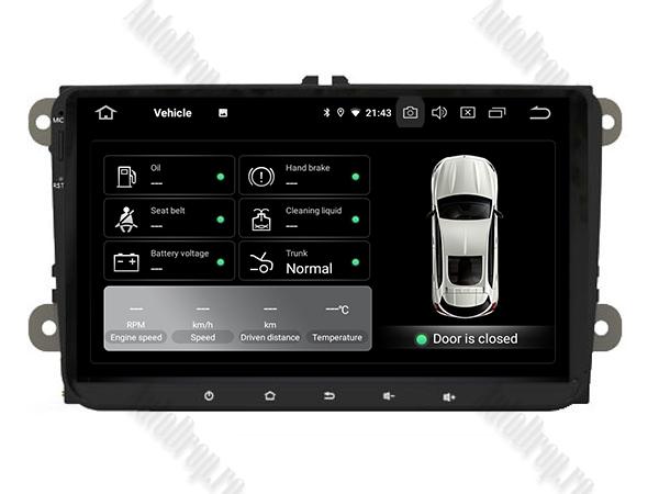 Navigatie Auto Volkswagen de 9 Inch AD-BGWVW9P3 9