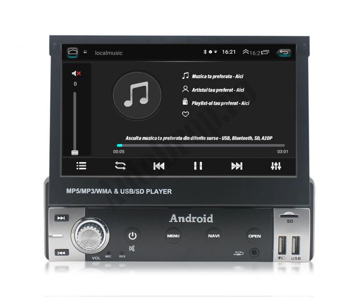 Navigatie Android 1DIN cu Ecran Retractabil | AutoDrop.ro [5]