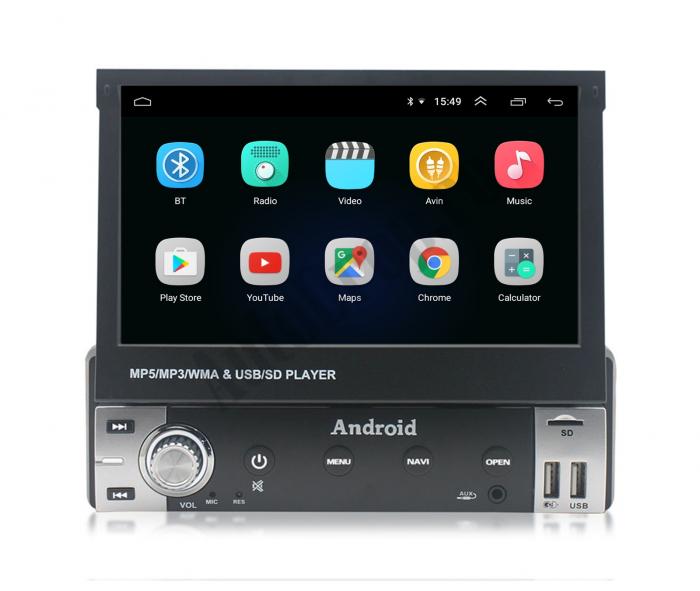 Navigatie Android 1DIN cu Ecran Retractabil | AutoDrop.ro [2]
