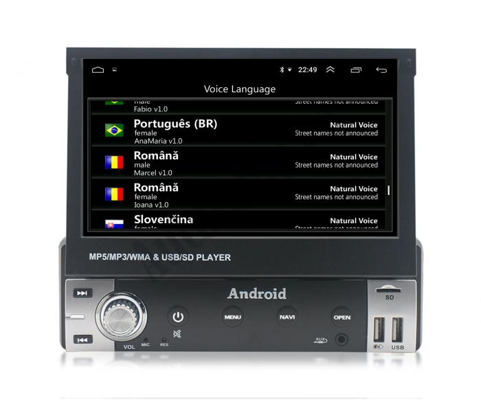 Navigatie Android 1DIN cu Ecran Retractabil | AutoDrop.ro [7]