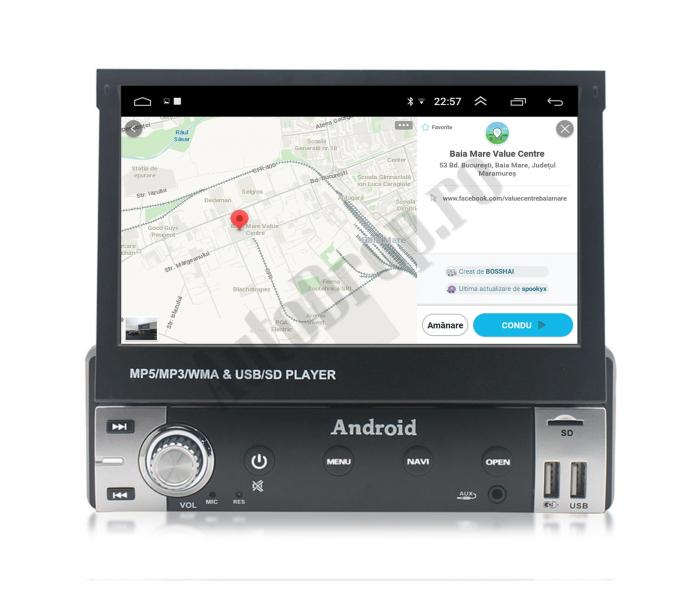 Navigatie Android 1DIN cu Ecran Retractabil | AutoDrop.ro [11]