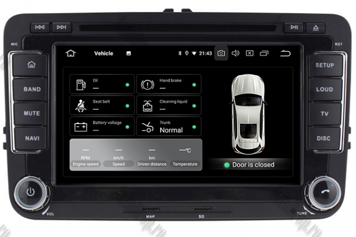 Navigatie Volkswagen 7 Inch cu Android 10 - AD-BGWVW7P3 11