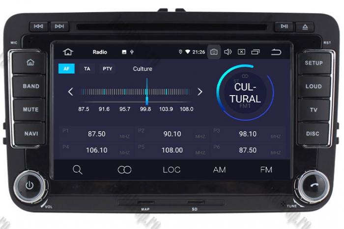 Navigatie Volkswagen 7 Inch cu Android 10 - AD-BGWVW7P3 4