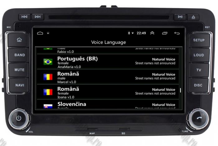 Navigatie Volkswagen 7 Inch cu Android 10 - AD-BGWVW7P3 16