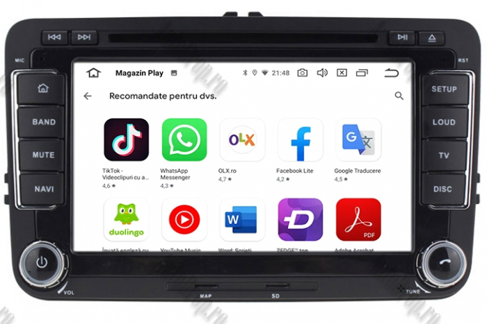 Navigatie Volkswagen 7 Inch cu Android 10 - AD-BGWVW7P3 10