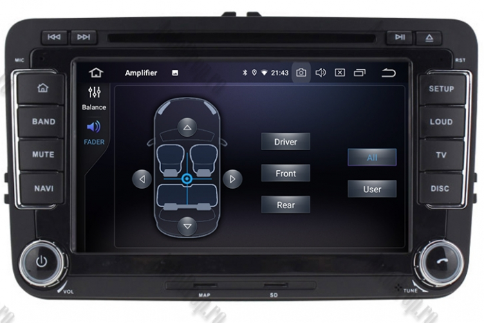 Navigatie Volkswagen 7 Inch cu Android 10 - AD-BGWVW7P3 7