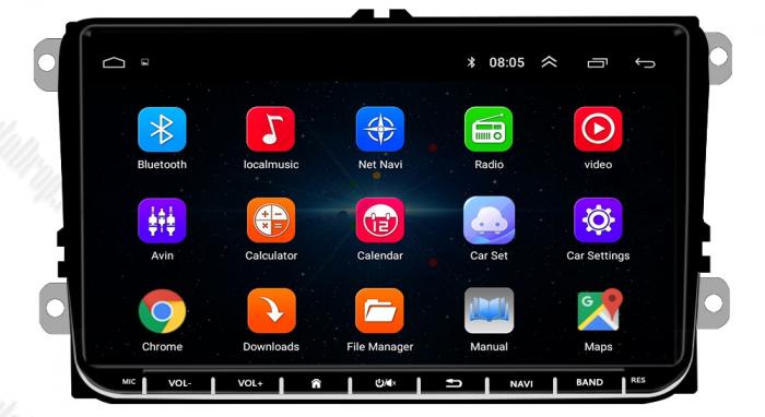 Navigatie VW, Seat, Skoda, Android 9, AD-BGPVW9MTK2GB [6]
