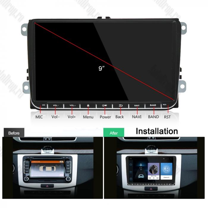 Navigatie VW, Seat, Skoda, Android 9, AD-BGPVW9MTK2GB [20]
