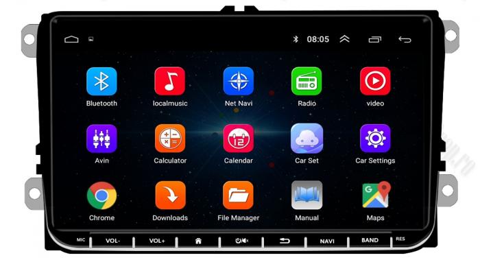 Navigatie Volkswagen, Skoda, Seat, Android | AD-BGPVW9MTK 2