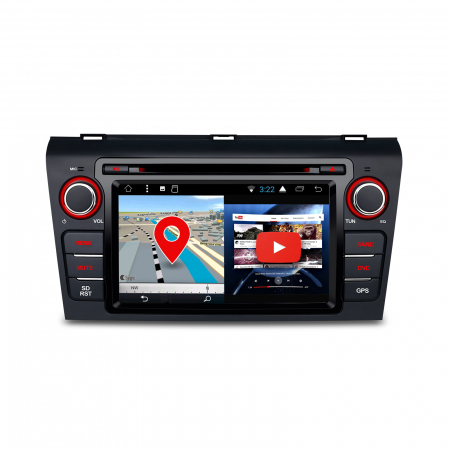 """-Out of Stock- NAVIGATIE MAZDA 3 (2004-2009), ANDROID 8.1, QUADCORE / 1GB RAM CU DVD, 7""""1"""