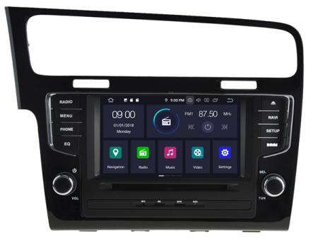 Navigatie Volkswagen Golf 7, Android 9, Quadcore / 2GB RAM, 7 inch - AD-BGX041