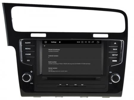 Navigatie Volkswagen Golf 7, Android 9, OCTACORE / 4GB RAM, 7 inch - AD-BGW063