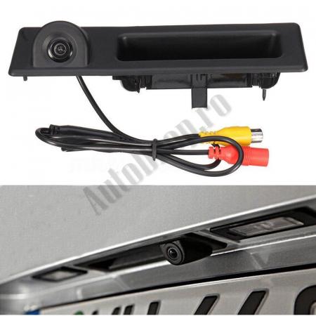 Camera Auto Video Marsarier Dedicata BMW F30, F31, F10, F25, E84 pe manerul de portbagaj - AD-BGCMBMW15